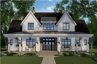 4-Bedroom, 2743 Sq Ft Farmhouse House Plan - 165-1170 - Front Exterior