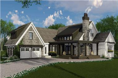 3-Bedroom, 2483 Sq Ft Contemporary House Plan - 165-1171 - Front Exterior