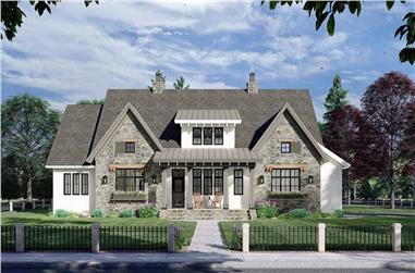 4-Bedroom, 2655 Sq Ft Contemporary House Plan - 165-1172 - Front Exterior