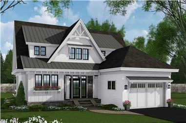 4-Bedroom, 2652 Sq Ft Contemporary House Plan - 165-1173 - Front Exterior
