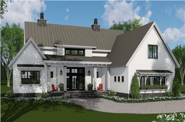 3-Bedroom, 2125 Sq Ft Contemporary Home Plan - 165-1174 - Main Exterior