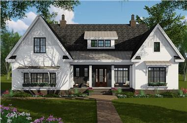 4-Bedroom, 2514 Sq Ft Contemporary Home Plan - 165-1177 - Main Exterior