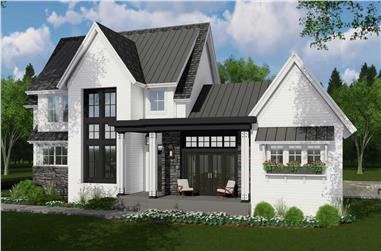 4-Bedroom, 3011 Sq Ft Farmhouse Home Plan - 165-1178 - Main Exterior
