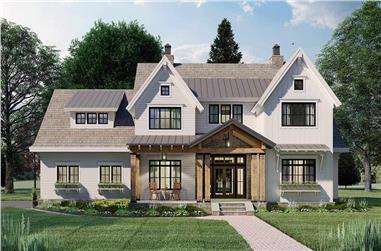 4-Bedroom, 2925 Sq Ft Farmhouse Home Plan - 165-1179 - Main Exterior