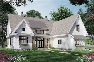 3-Bedroom, 2136 Sq Ft Ranch House Plan - 165-1181 - Front Exterior