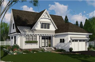 4-Bedroom, 2584 Sq Ft Farmhouse Home Plan - 165-1184 - Main Exterior