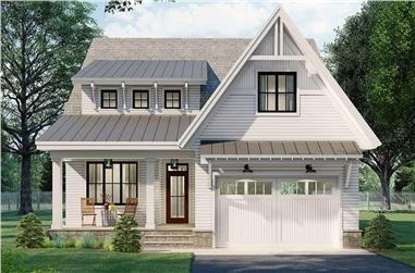 4-Bedroom, 2889 Sq Ft Farmhouse Home Plan - 165-1186 - Main Exterior