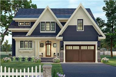 3-Bedroom, 2801 Sq Ft Contemporary House Plan - 165-1187 - Front Exterior