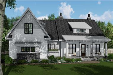 4-Bedroom, 2480 Sq Ft Modern Farmhouse Plan #165-1190 - Main Exterior