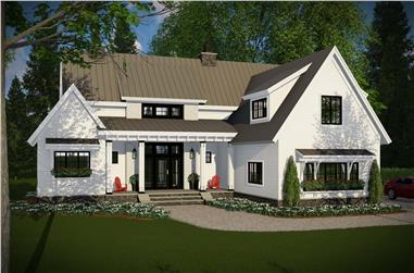 4-Bedroom, 2528 Sq Ft Modern Farmhouse Plan #165-1191 - Main Exterior