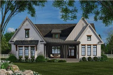 3-Bedroom, 2364 Sq Ft Farmhouse House Plan - 165-1192 - Front Exterior