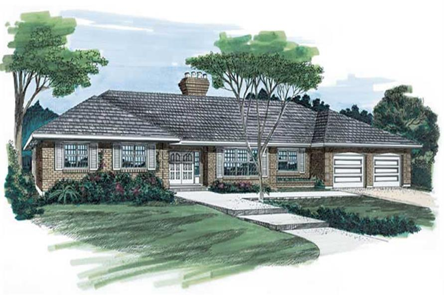 3-Bedroom, 2419 Sq Ft Contemporary Home Plan - 167-1000 - Main Exterior