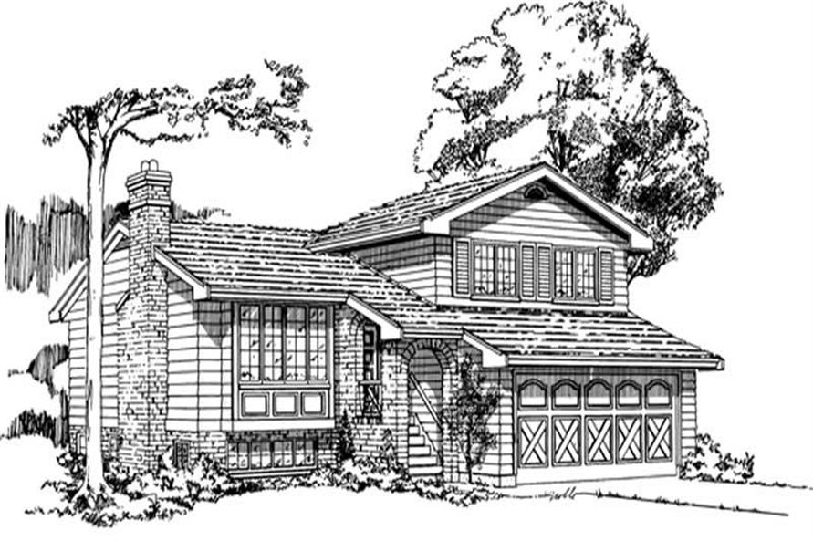 Home Plan Rendering of this 3-Bedroom,1211 Sq Ft Plan -167-1003