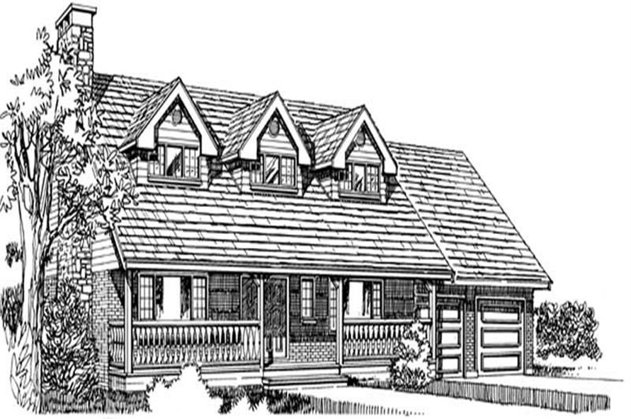 Main image for house plan # 7038