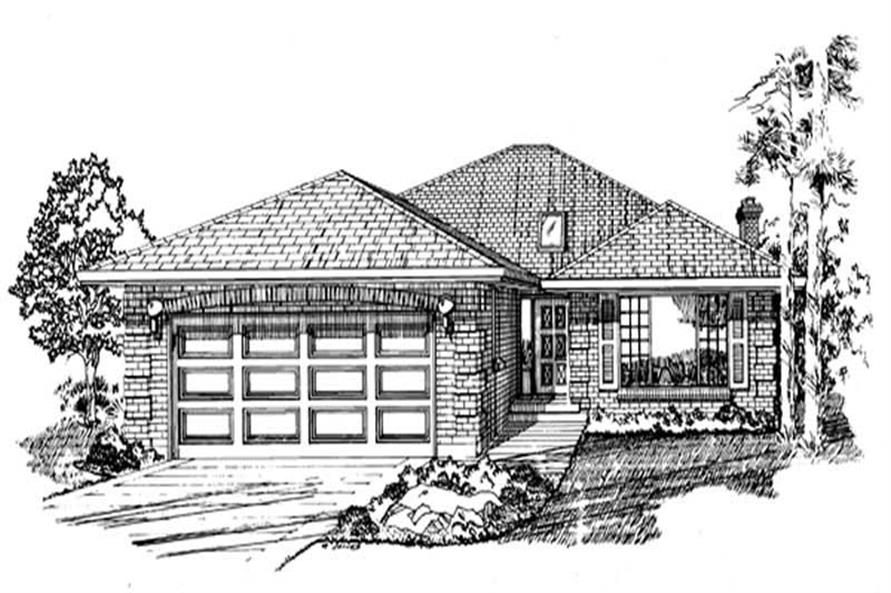 3-Bedroom, 1548 Sq Ft Ranch Home Plan - 167-1009 - Main Exterior