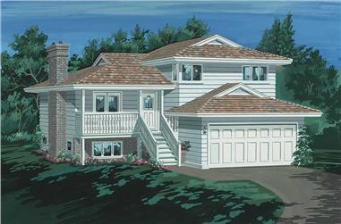 3-Bedroom, 1161 Sq Ft Small House Plans - 167-1010 - Main Exterior