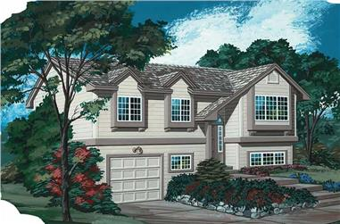3-Bedroom, 1047 Sq Ft Small House Plans - 167-1011 - Main Exterior