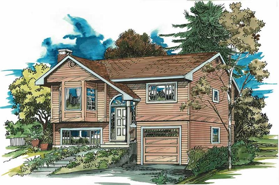 3-Bedroom, 1116 Sq Ft Small House Plans - 167-1012 - Main Exterior