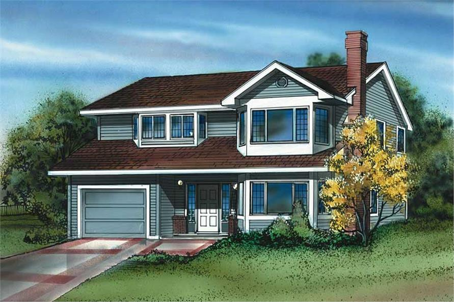 3-Bedroom, 1396 Sq Ft Small House Plans - 167-1013 - Main Exterior