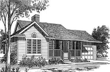 3-Bedroom, 1399 Sq Ft Ranch Home Plan - 167-1014 - Main Exterior