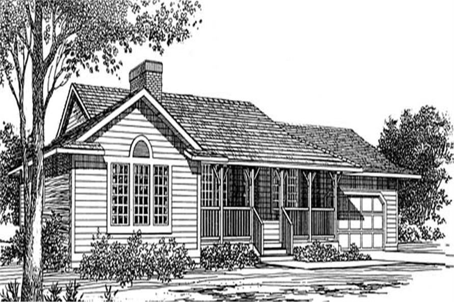 3-Bedroom, 1399 Sq Ft Ranch Home Plan - 167-1014 - Main Exterior