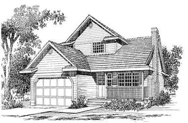 2-Bedroom, 1553 Sq Ft Ranch Home Plan - 167-1016 - Main Exterior