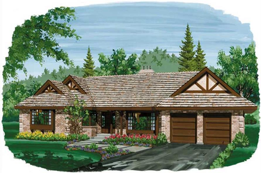 4-Bedroom, 2086 Sq Ft Contemporary Home Plan - 167-1017 - Main Exterior