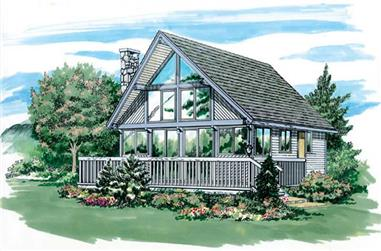 2-Bedroom, 916 Sq Ft Small House Plans - 167-1019 - Front Exterior