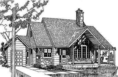 3-Bedroom, 1682 Sq Ft Coastal House Plan - 167-1024 - Front Exterior