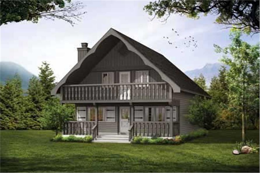3-Bedroom, 1286 Sq Ft Country House Plan - 167-1030 - Front Exterior