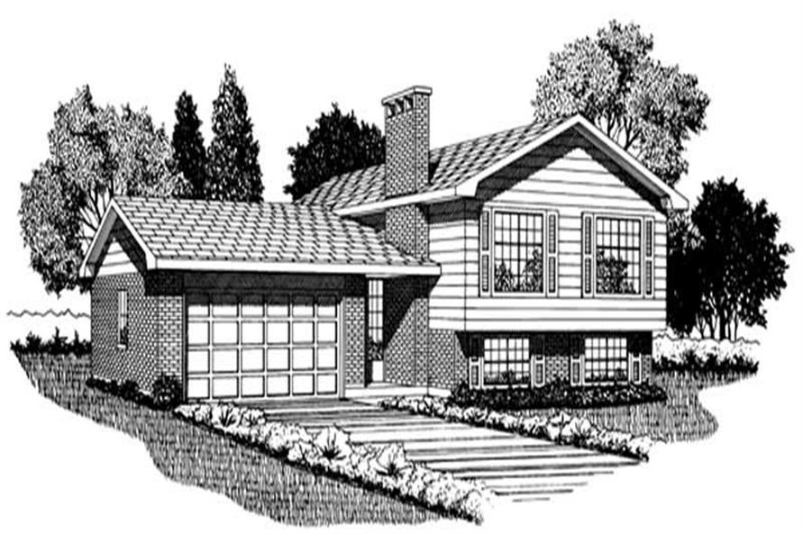 3-Bedroom, 1328 Sq Ft Small House Plans - 167-1031 - Front Exterior