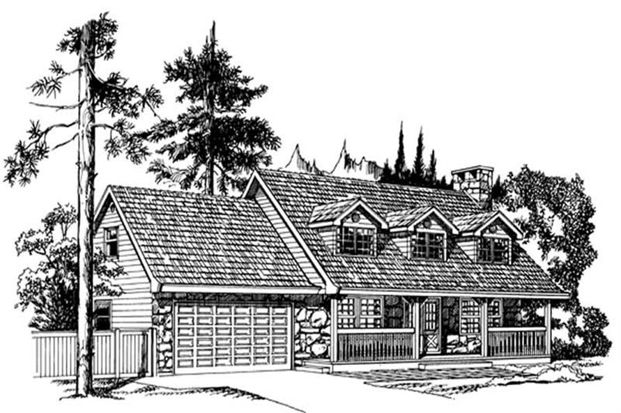 Main image for house plan # 7022