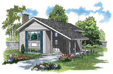 3-Bedroom, 1018 Sq Ft Ranch Home Plan - 167-1036 - Main Exterior