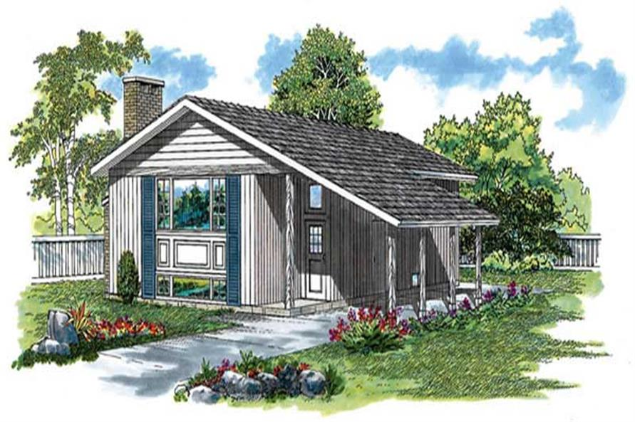 3-Bedroom, 1018 Sq Ft Ranch Home Plan - 167-1036 - Main Exterior