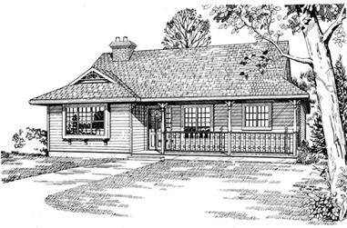 3-Bedroom, 1383 Sq Ft Ranch House Plan - 167-1037 - Front Exterior