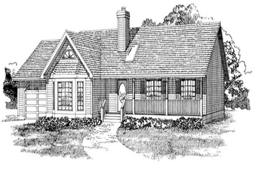 3-Bedroom, 1452 Sq Ft Ranch House Plan - 167-1039 - Front Exterior
