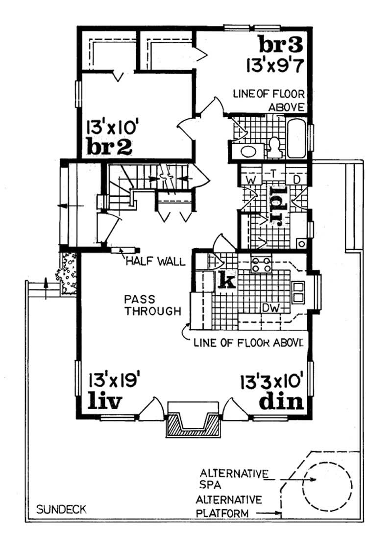 Vacation homes house plans home design sea096 7098 for Vacation home floor plans
