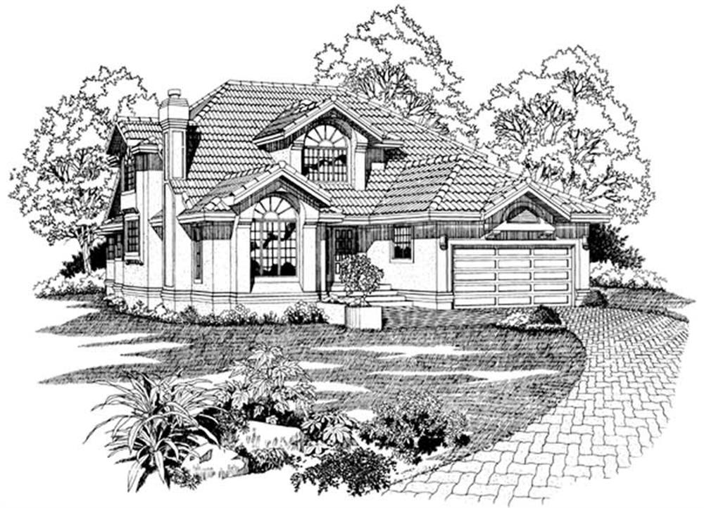 Main image for house plan # 7104