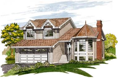 3-Bedroom, 1314 Sq Ft Small House Plans - 167-1047 - Front Exterior