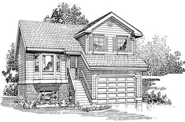 3-Bedroom, 1383 Sq Ft Small House Plans - 167-1048 - Front Exterior