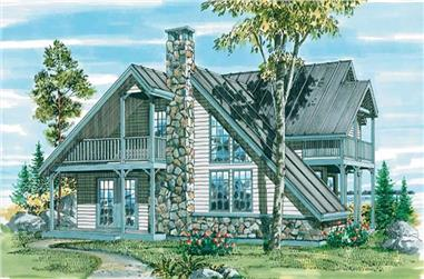 3-Bedroom, 1666 Sq Ft Contemporary House Plan - 167-1049 - Front Exterior