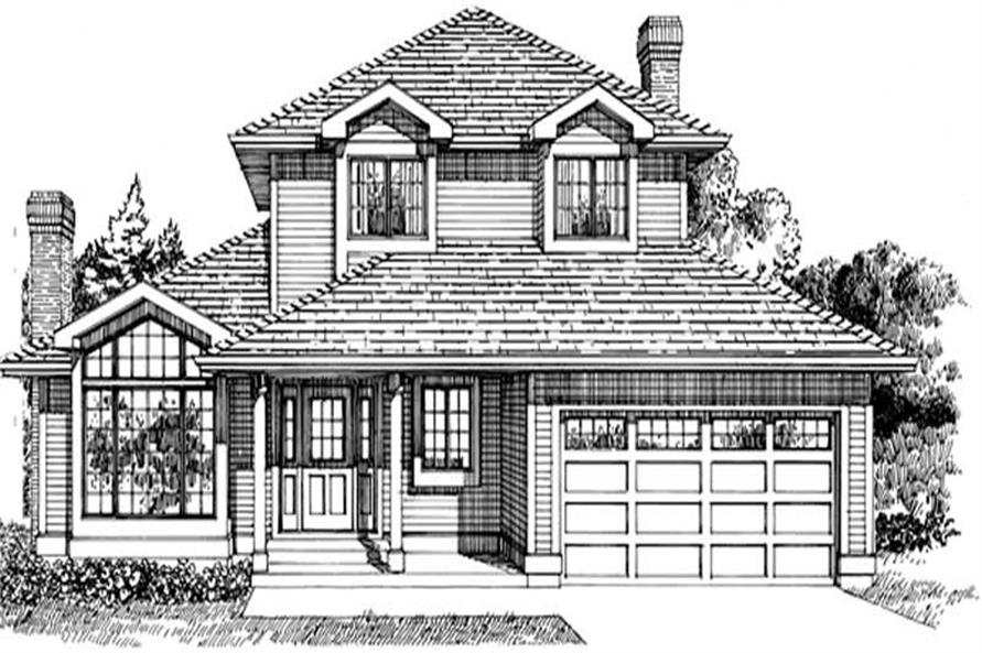 3-Bedroom, 1769 Sq Ft Country Home Plan - 167-1052 - Main Exterior