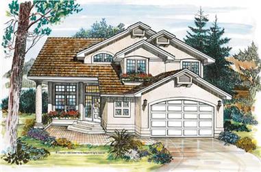 3-Bedroom, 2120 Sq Ft Southwest Home Plan - 167-1054 - Main Exterior