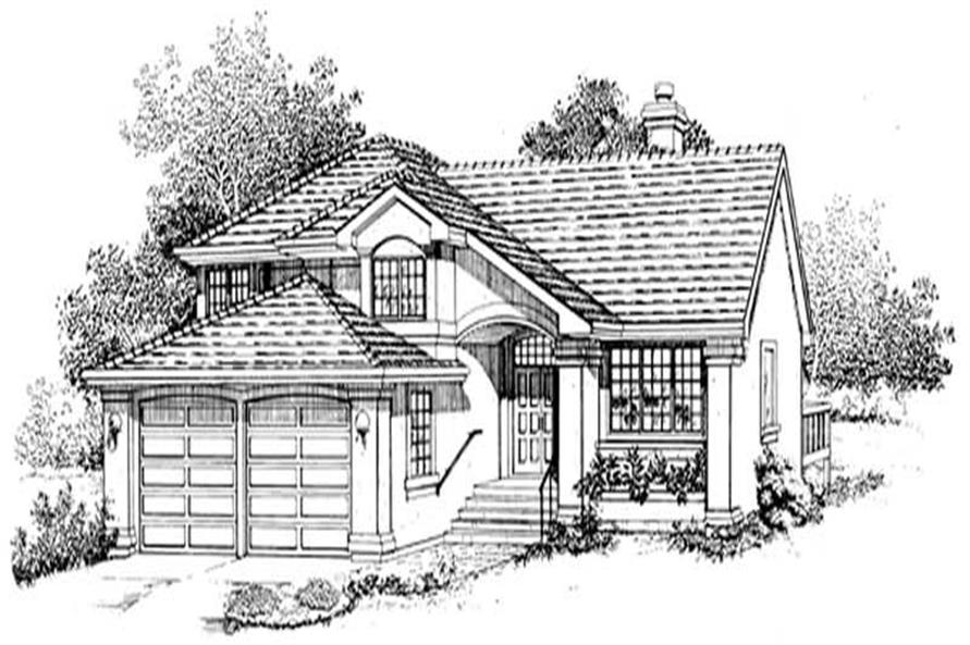 3-Bedroom, 2449 Sq Ft Southwest Home Plan - 167-1055 - Main Exterior