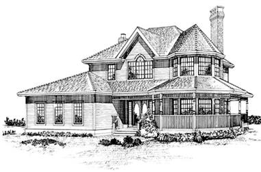 4-Bedroom, 2560 Sq Ft Country Home Plan - 167-1057 - Main Exterior