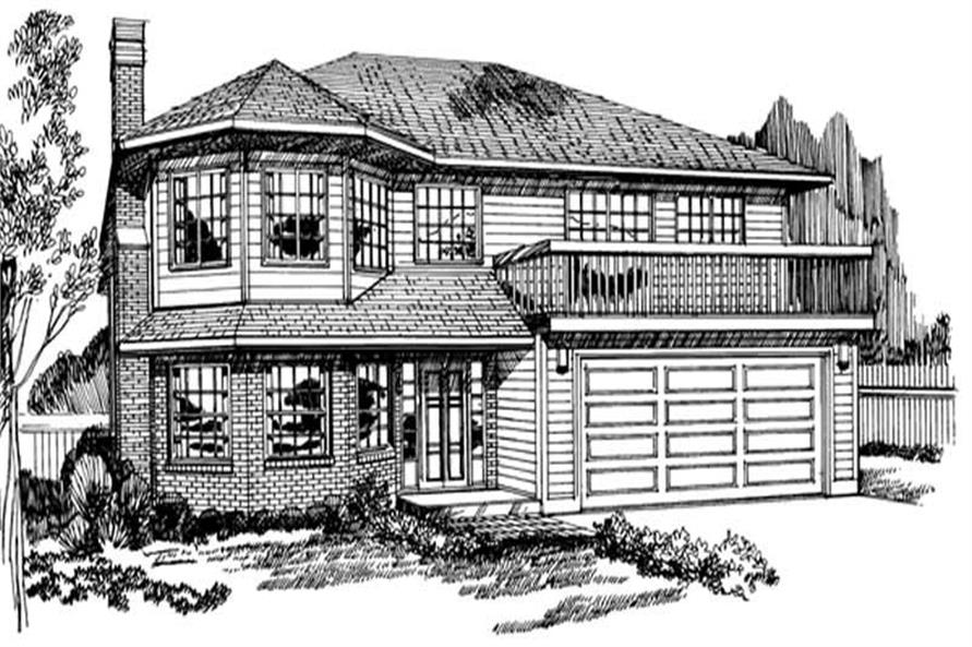 3-Bedroom, 1360 Sq Ft Small House Plans - 167-1059 - Front Exterior