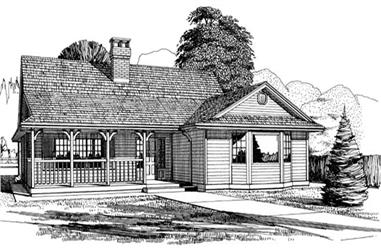 3-Bedroom, 1525 Sq Ft Country House Plan - 167-1061 - Front Exterior