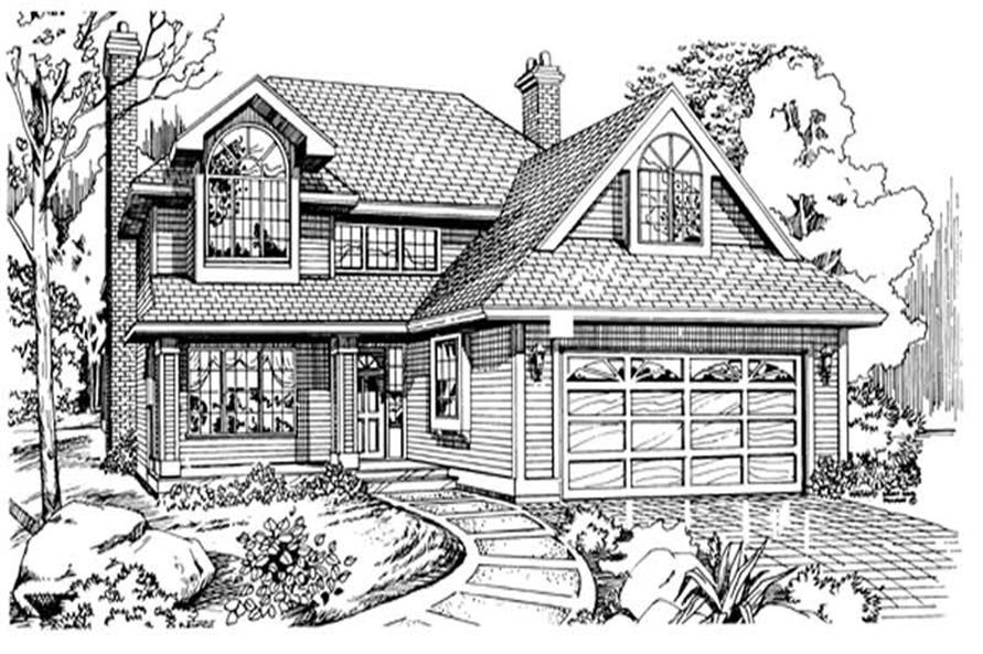3-Bedroom, 1887 Sq Ft Traditional House Plan - 167-1062 - Front Exterior