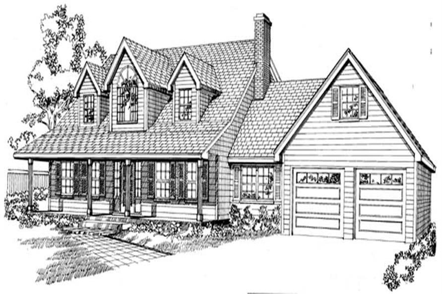3-Bedroom, 2389 Sq Ft Country House Plan - 167-1063 - Front Exterior