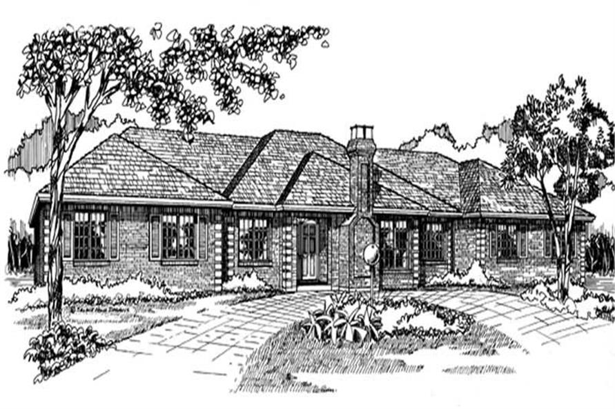 Main image for house plan # 7081